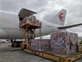 1,000 ventilators arrived at JFK Airport from China. Photo courtesy of The Office of Governor Andrew Cuomo