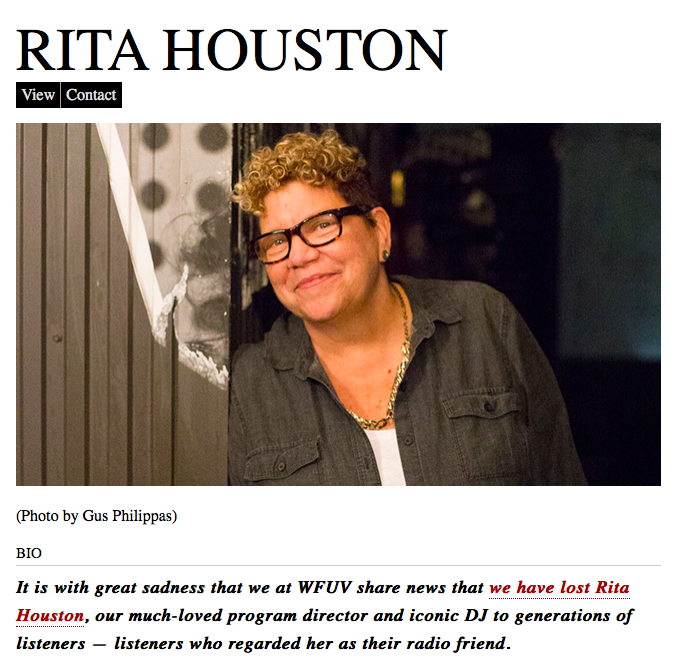 """Growing Up in """"The Whole Wide World,"""" A Tribute to Rita Houston"""